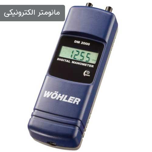 تصویری از یک مانومتر الکترونیکی  مارک wohler